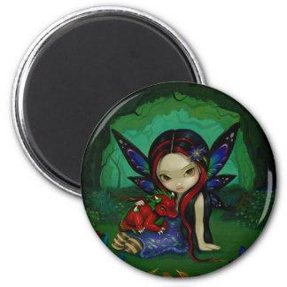 """""""Dragonling Garden I"""" Magnet"""
