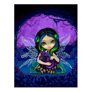 """Dragonling Garden II"" Postcard"