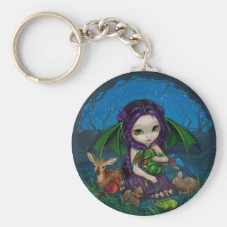 """Dragonling Garden III"" Keychain"