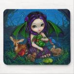 """Dragonling Garden III"" Mousepad"