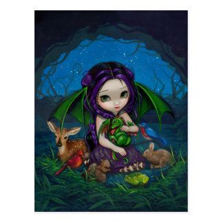 """Dragonling Garden III"" Postcard"