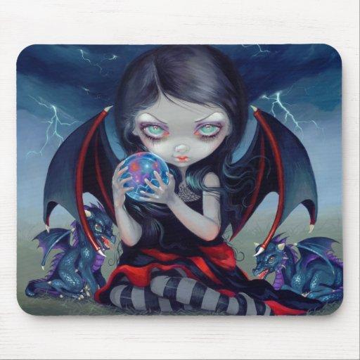 """Dragonling oscuro"" Mousepad Tapetes De Ratón"