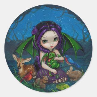 """""""Dragonling pegatina del jardín III"""""""