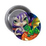 """""""Dragonling querido botón de II"""" Pin"""