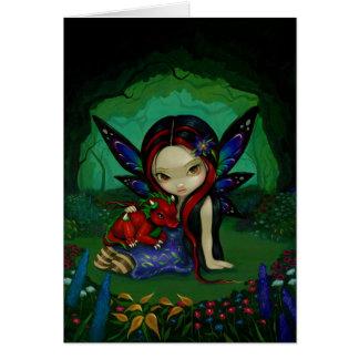 """Dragonling tarjeta de felicitación del jardín I"""