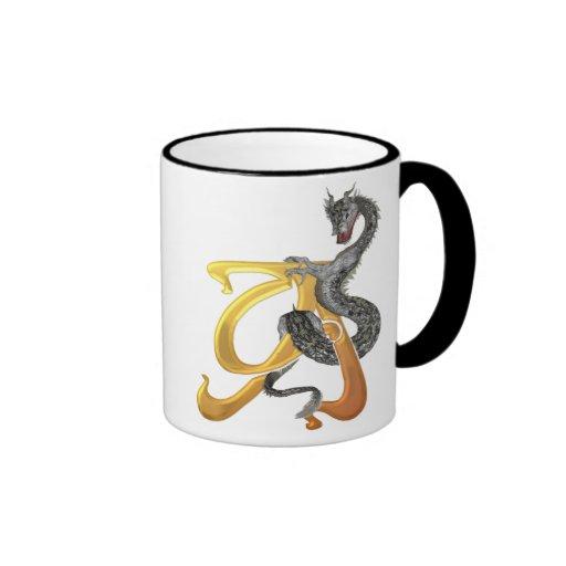 Dragonlore Initial A Ringer Mug