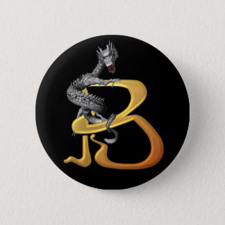 Dragonlore Initial B Pinback Button