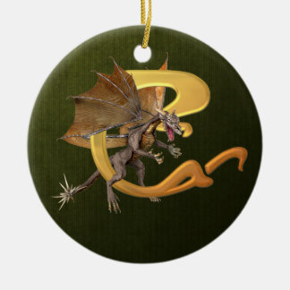 Dragonlore Initial C Ceramic Ornament