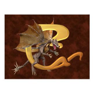 Dragonlore Initial C Postcard