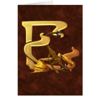 Dragonlore Initial E Card