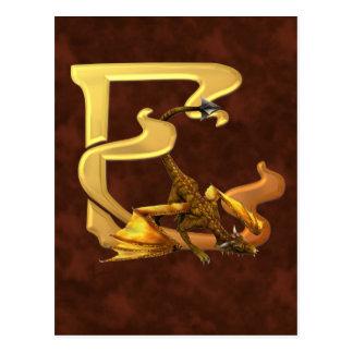Dragonlore Initial E Postcard