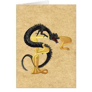 Dragonlore Initial F Card