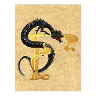 Dragonlore Initial F Postcard