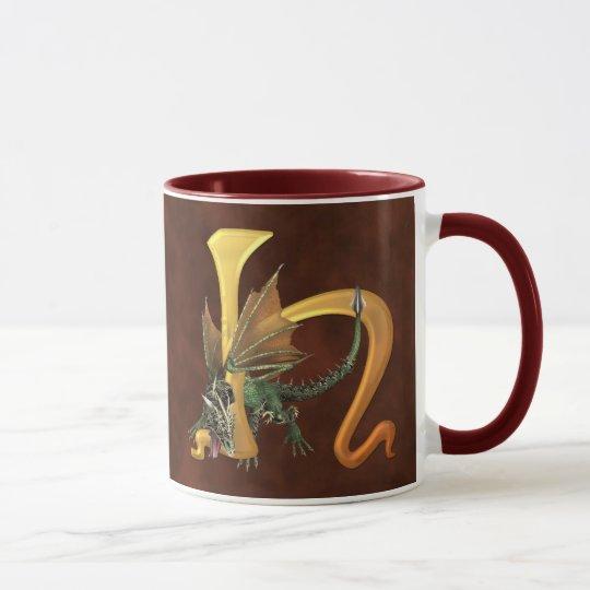 Dragonlore Initial H Mug