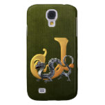 Dragonlore Initial J Galaxy S4 Cases