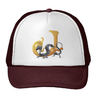 Dragonlore Initial J Trucker Hat