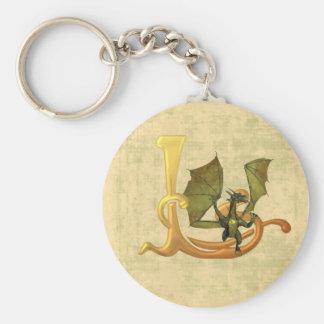 Dragonlore Initial L Keychain