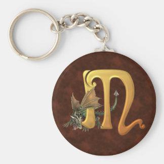 Dragonlore Initial M Keychain
