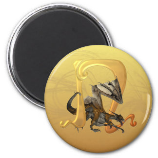 Dragonlore Initial N 2 Inch Round Magnet
