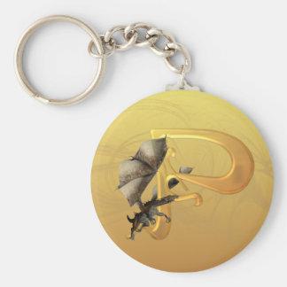 Dragonlore Initial P Keychain