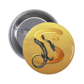 Dragonlore Initial S Pinback Button