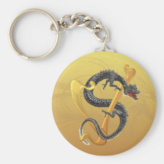 Dragonlore Initial V Keychain