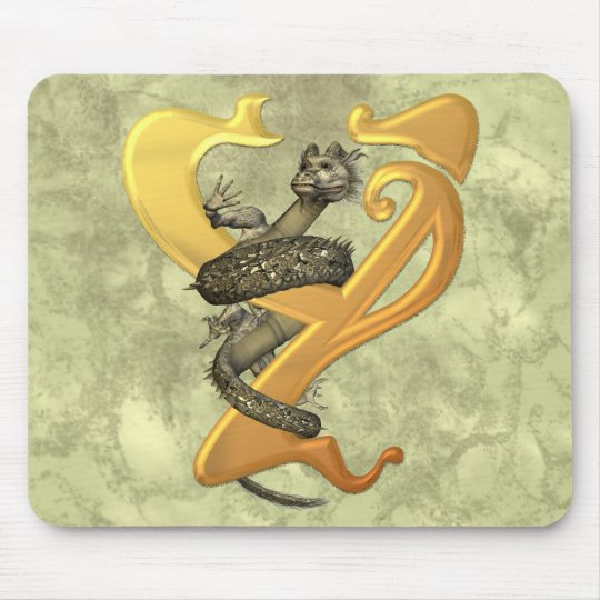 Dragonlore Initial Y Mouse Pad