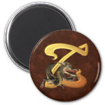 Dragonlore Initial Z Refrigerator Magnets