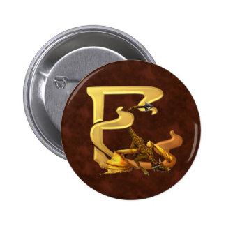 Dragonlore Initials E Pinback Button
