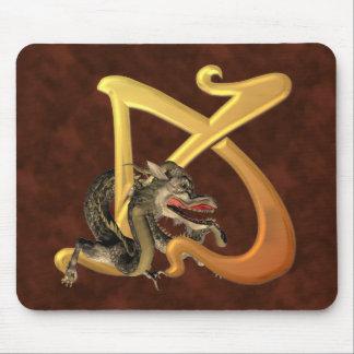 Dragonlore K inicial Alfombrilla De Ratón