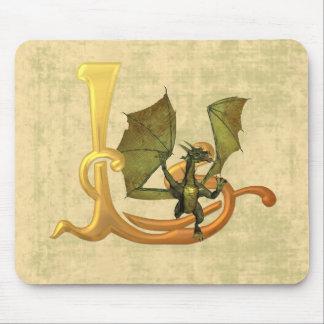 Dragonlore L inicial Alfombrilla De Raton