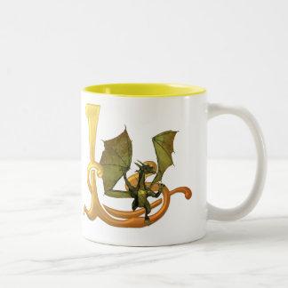 Dragonlore L inicial Taza De Dos Tonos