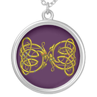 DRAGONLOVE ,Purple Silver Plated Necklace