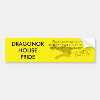 Dragonor House Pride Bumpersticker With Motto Bumper Sticker