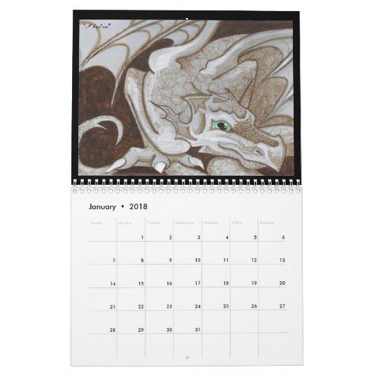 Dragons 2011 fantasy art calendar big eye painting
