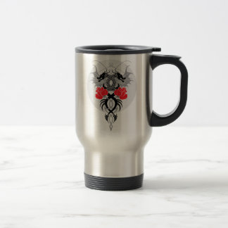 Dragons and Roses Travel Mug
