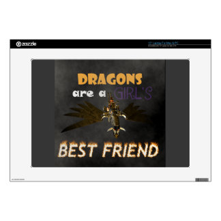 DRAGONS ARE A STEAMPUNK GIRL'S BEST FRIEND DECALS FOR LAPTOPS