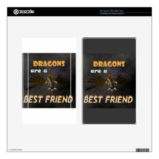 DRAGONS ARE A STEAMPUNK GIRL'S BEST FRIEND KINDLE FIRE DECAL