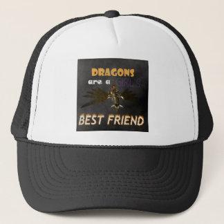DRAGONS ARE A STEAMPUNK GIRL'S BEST FRIEND TRUCKER HAT