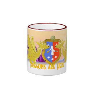Dragons Are Here Cartoon Dragon Mug