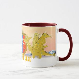 Dragons Are Here Cartoon Kawaii Dragon Mug