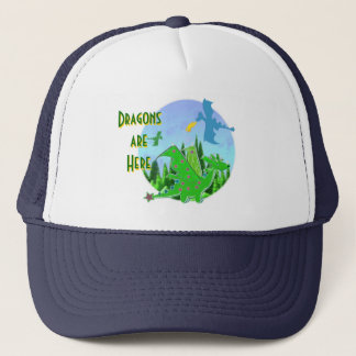 Dragons Are Here Trucker Hat