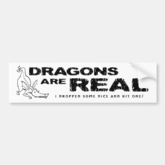 Dragons Are Real! • Bumper Sticker