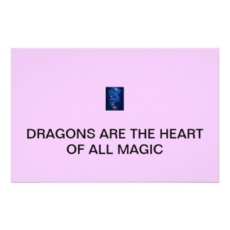 DRAGONS ARE THE HEART OF ALL MAGIC CUSTOMIZED STATIONERY