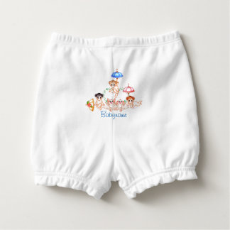 Dragons & Babies & Umbrellas at Play Personalized Diaper Cover