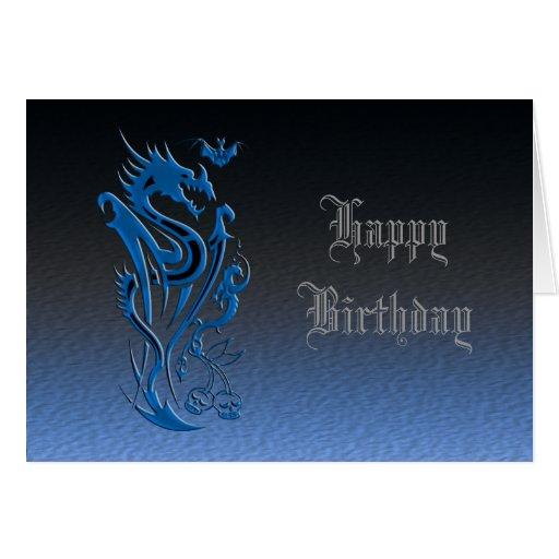 Dragons & Bat blue Cards