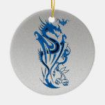 Dragons & Bat blue Christmas Tree Ornaments