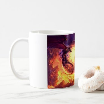 Coffee Themed Dragons battle coffee mug