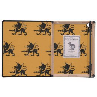 Dragons Black Orange iPad Cases