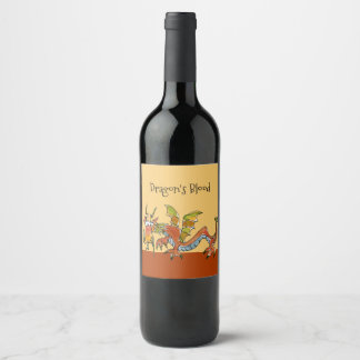 Dragon's Blood Wine Label